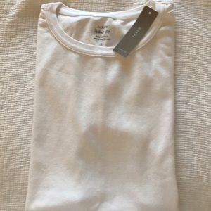 """Jcrew NWT """"perfect fit"""" white s/s tee"""